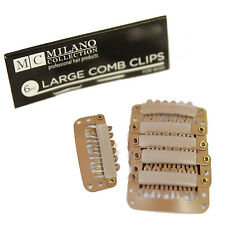 Milano 6 Piece Deluxe Snap Comb Set for Wigs or Hair Extensions in Tan Blond