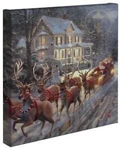Thomas-Kinkade-Holiday-Collection-14-x-14-Gallery-Wrapped-Canvas-Choice-of-4