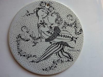 1 Stück Kachel 100 Jahre Rosenthal Motiv: März Victorine Vom Jubiläumjahr 1976 Ungleiche Leistung
