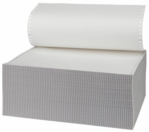 """3 Part Computer Listing Paper M44 All White 279 x370mm 11/"""" x 14.5/"""" 700 Sheets K3"""