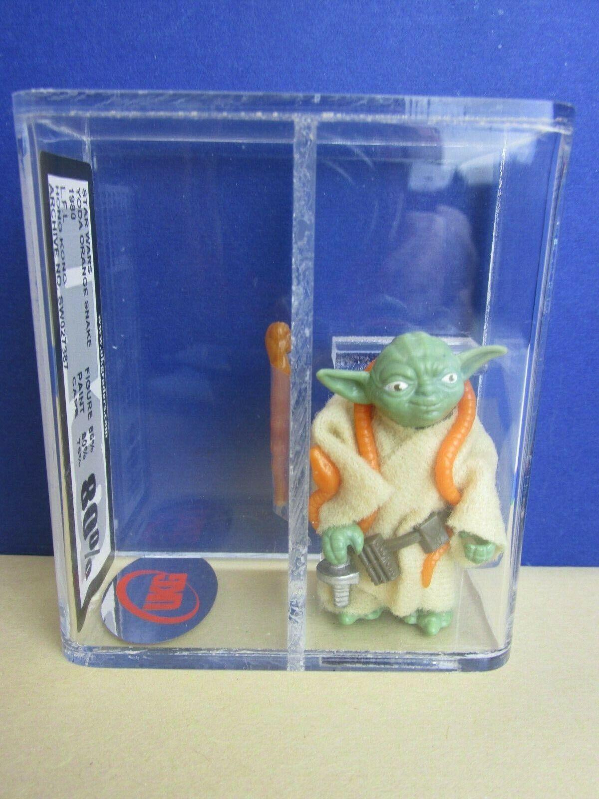 Star Wars Vintage Maître Yoda Figurine Original Orange Serpent UKG pas AFA