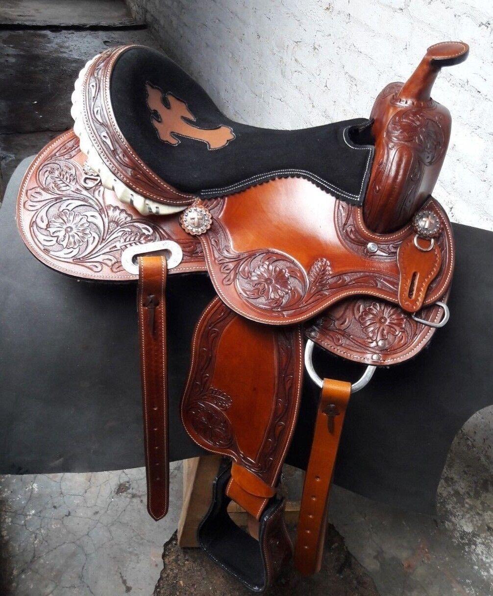 Western saddle barrel  racing Style Saddle  beautiful