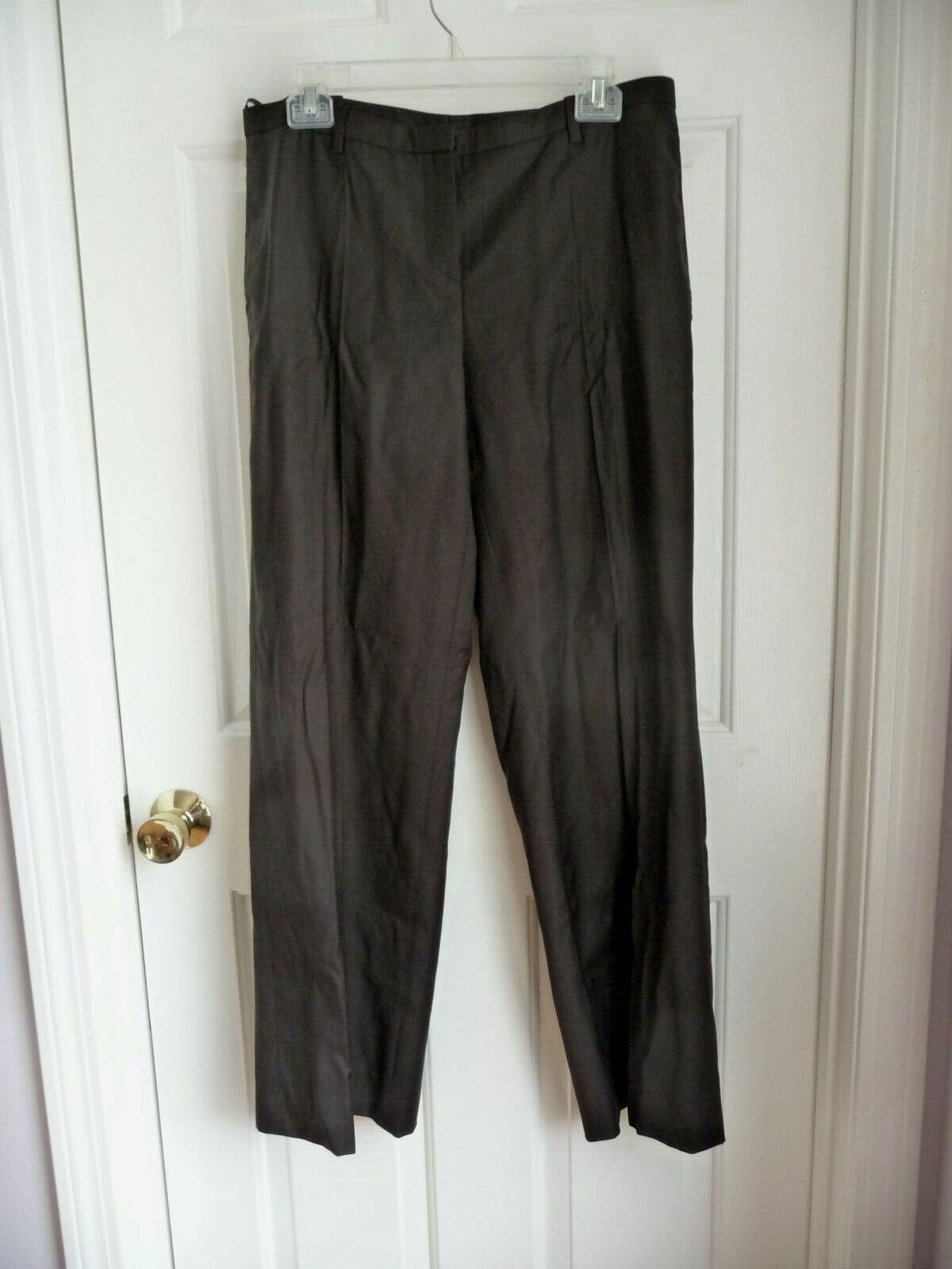 Boss Hugo Boss Ladies Pants NEW US 10 Brown Wool Cashmere Straight Leg