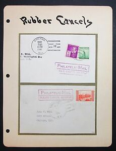Rubber-Cancels-Philatelic-Mail-2-Covers-USA-America-Letter-Lot-I-5281