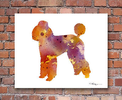 Standard POODLE Contemporary Watercolor Abstract ART Print by Artist DJR