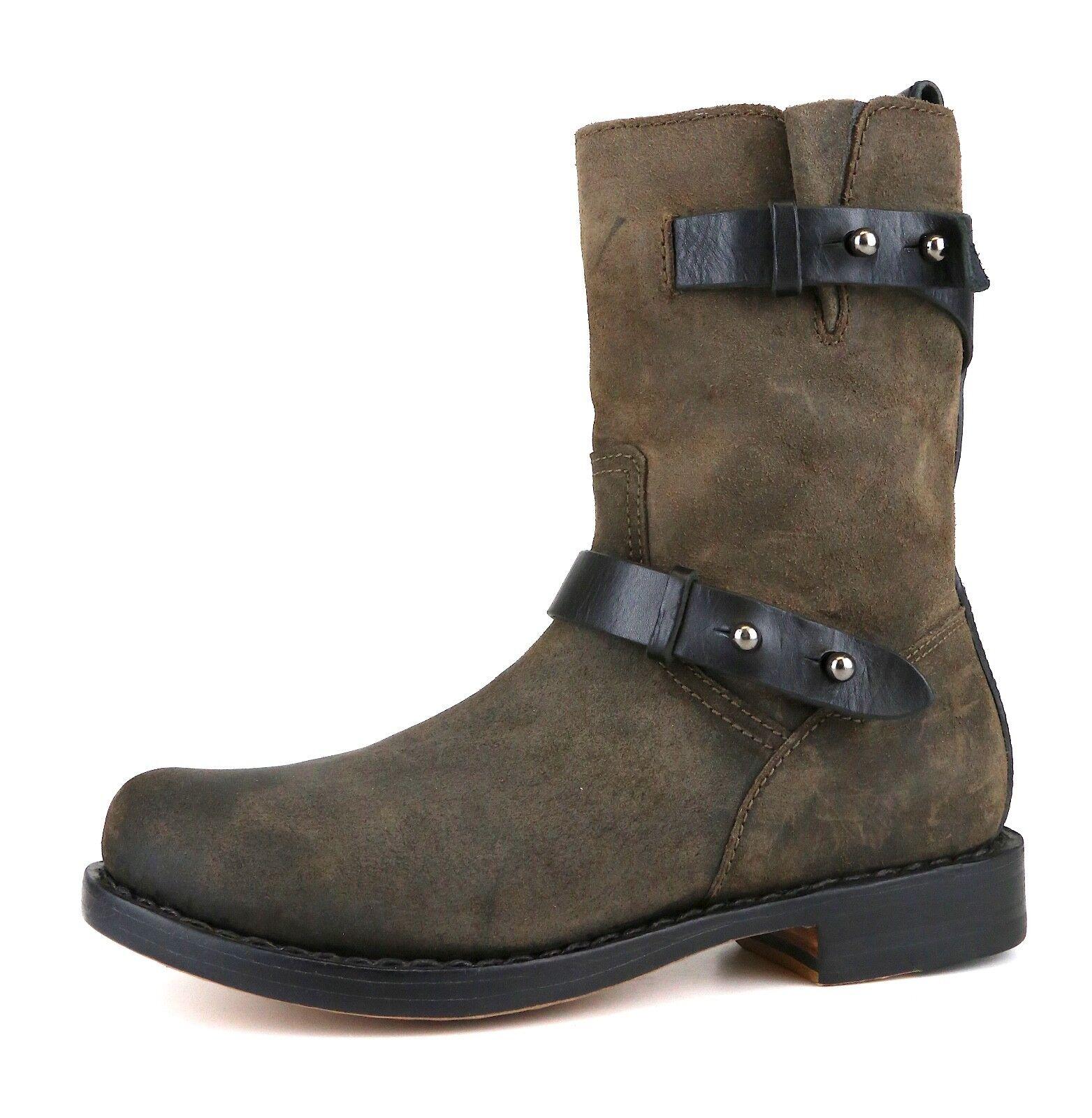Rag & Bone Moto Leather démarrage marron femmes Sz 37 EUR 5451