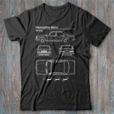 Unofficial Blueprint of 220D 1970 MENS T SHIRT CLASSIC CAR W114 mercedes