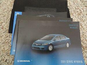 2011 honda civic hybrid owners manual ebay rh ebay com honda civic hybrid owners manual honda civic hybrid 2009 owners manual pdf