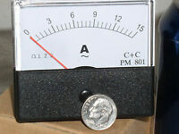 1 5 10 15a 15 A Amp Amps Ampere Ac Analog Needle Current Panel Meter Ammeter