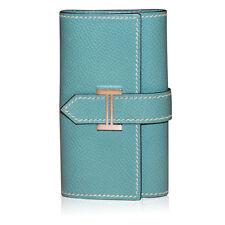 Hermes Bleu Jean 6 Key Case Bearn Leather