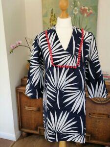 03ff600dfd0 Boden Evangeline Linen Tunic UK 10 P EU 38 Current Season £75! NAVY ...