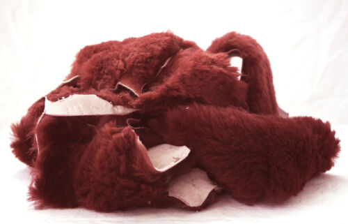 Weave Sew Quilt Pad 1 lb Burgundy Maroon Sheepskin JMS Craft pieces to Glue
