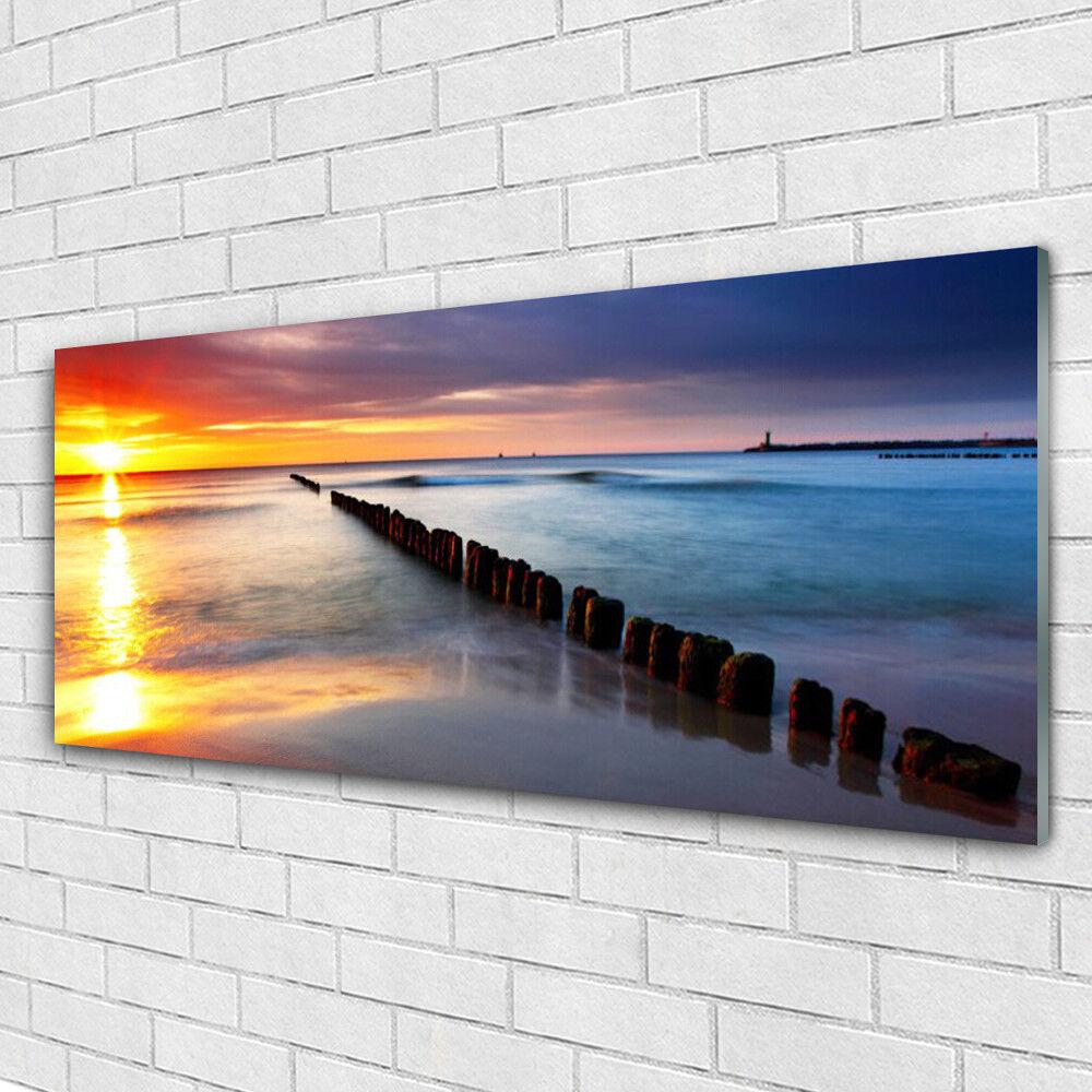 Acrylglasbilder Wandbilder aus Plexiglas® 125x50 Meer Sonne Landschaft