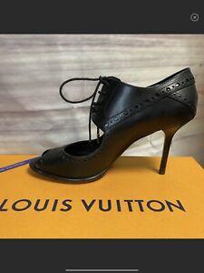 Louis-Vuitton-Black-Stilitto-Lace-Up-Peep-Toe