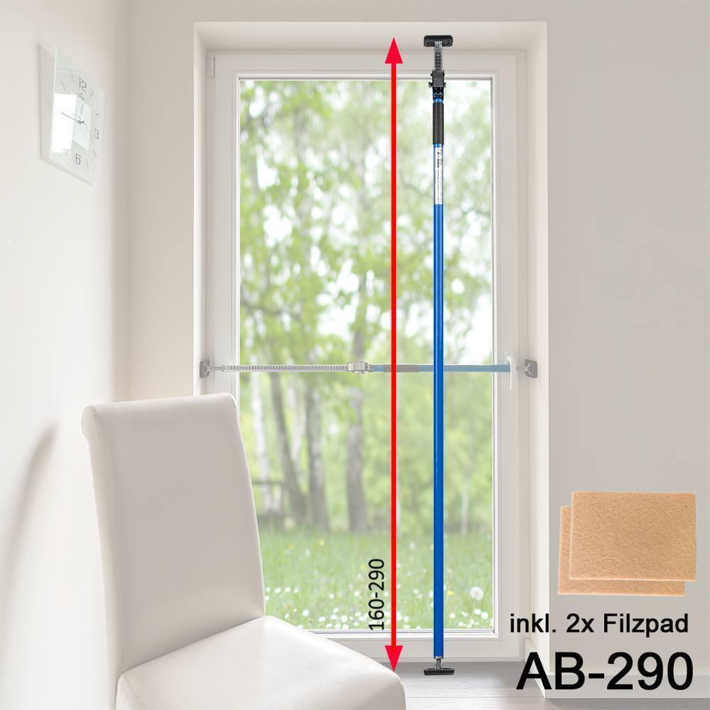 2,90m Sicherungsstange Fenstersicherung Türsicherung Einbruchschutz Farbe Blau