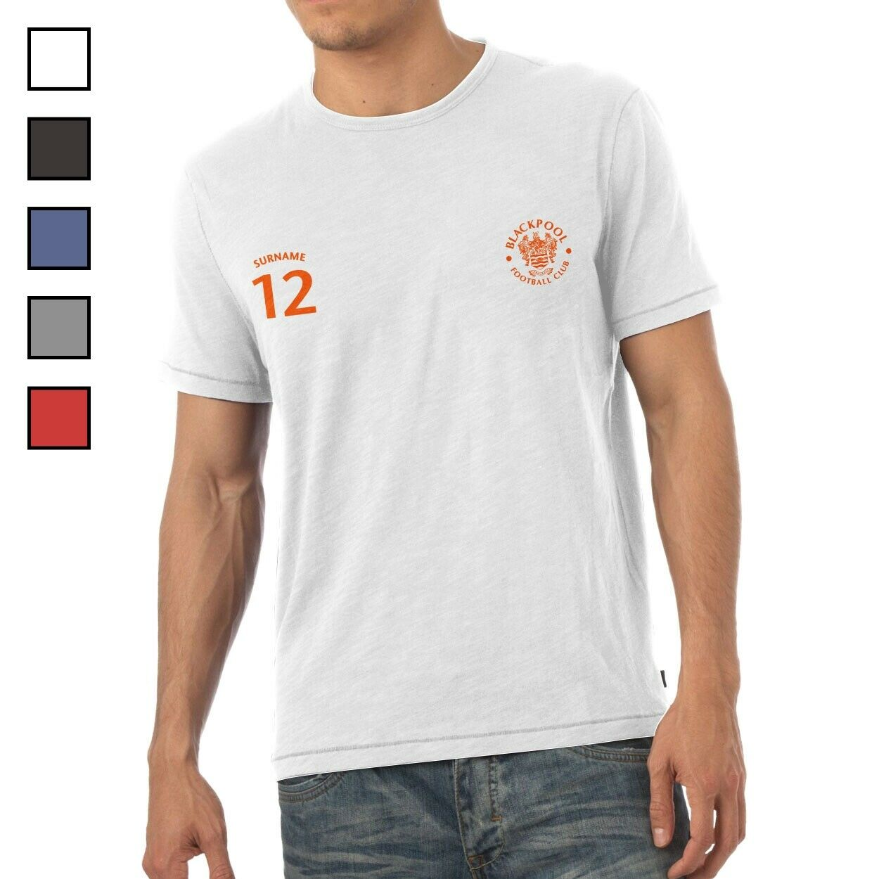 Blackpool F.C - Personalised Mens T-Shirt (SPORTS)