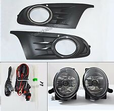 For 10-14 VW Golf Jetta MK6 TDI TSI Clear Fog Lights Kit W/ Switch Wring VW469-C