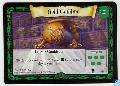 Harry Potter TCG Quidditch Cup Expansion 2001 7 Gold Cauldron Item No