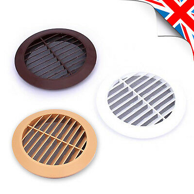100 Brown White Beige Hot Sale Round Ventilation Grill With Mesh 150mm Outstanding Features 125