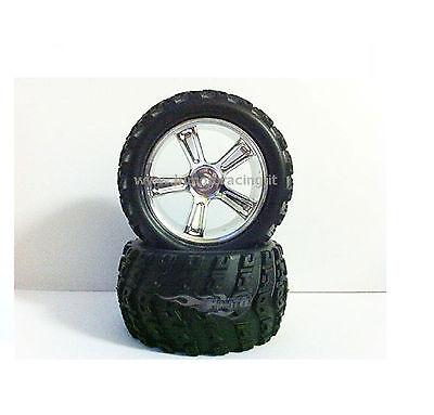 28663v Coppia Ruote Complete Monster Modelli 1/18 Off-road Tires E Rims Himoto