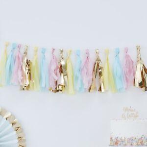 PASTEL-amp-GOLD-TASSEL-GARLAND-Party-Decoration-Baby-Shower-Birthday-Backdrop