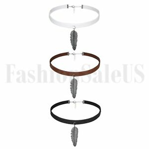 3pcs-Vintage-Gothic-Feather-Dangle-Retro-Choker-Collar-Bib-Necklace-Jewelry-Gift