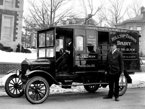 1921 MILK DELIVERY TRUCK  Photo 177-d