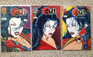 Crusade-Shi-comic-book-way-of-the-warrior-William-Tucci-2-3-4-2-autographed
