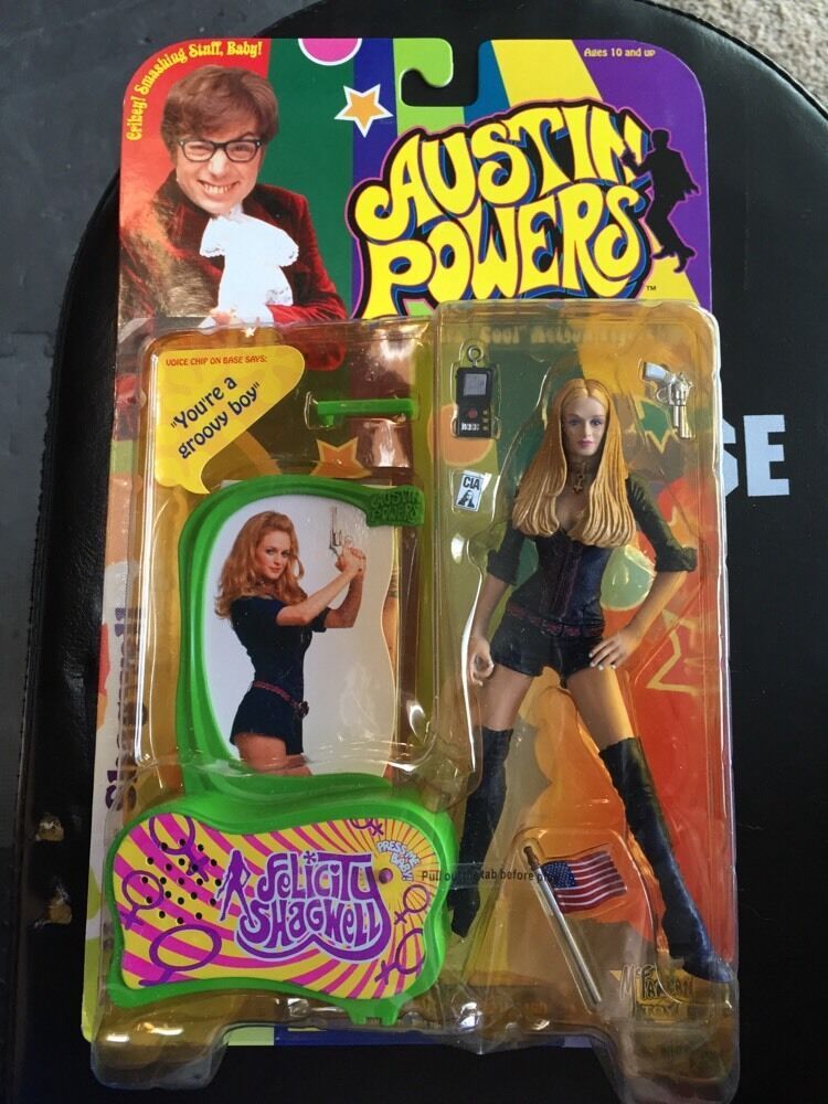 McFarlane Austin Powers FELICITY SHAGWELL Heather Graham Action Figure NEW