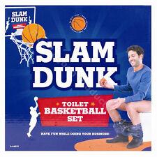 Slam Dunk Novelty Toilet Basketball Set Fun Gadget Game Gift Bathroom Boys Toys