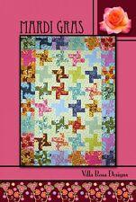 Mardi Gras Pattern Card by Villa Rosa Designs - Jelly Roll Friendly