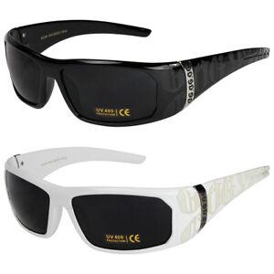 2er Pack Locs 2003 Choppers Sport Brille Sonnenbrille Herren Damen schwarz weiß Dames: accessoires Brillen