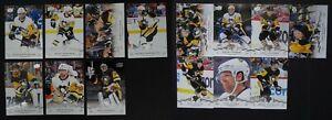 2018-19-Upper-Deck-UD-Pittsburgh-Penguins-Series-1-amp-2-Team-Set-14-Hockey-Cards