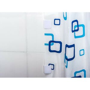 Pair Bathroom Accessories Shower Curtain Clip Anti Splash Clip Self