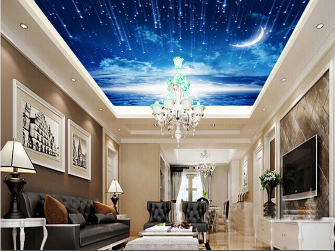 3D Moonlight 59 Ceiling WallPaper Murals Wall Print Decal AJ WALLPAPER US