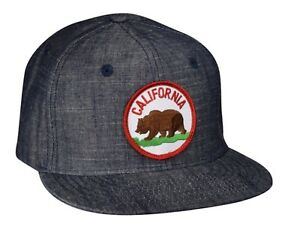 2693576d2875d California Bear Hat by LET S BE IRIE - Washed Blue Denim Snapback