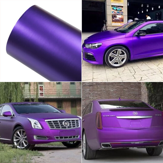 Ice Purple 200mm*300mm Decal Vinyl Film Wrap Roll Adhesive Car Sticker Sheet DIY
