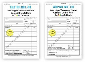 50 2 part personalized duplicate carbonless invoice sales receipt