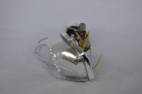 Clear Led Brake Tail light Integrated Turn Signals Yamaha 06-15 FZ1 11-13 FZ8