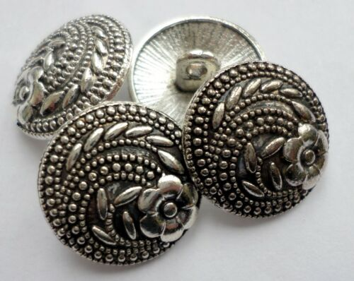 Classic Chic Antique Style Metal Carved Pattern Design Sewing Buttons Crafts