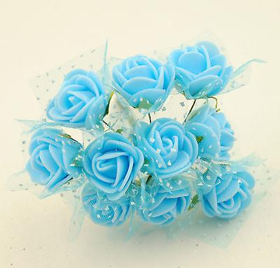 100x Fiorellini Rose ROSA Artificiale Fiore Organza Neve Bomboniera decorazione