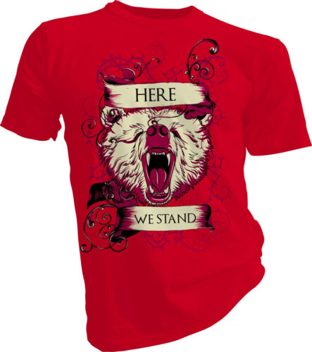 Bear Adult /& Kids T-shirt Here We Stand Game of Thrones House Mormont