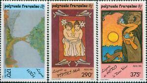 French-Polynesia-1990-Sc-549-551-SG599-601-Polynesian-Legends-set-MNH-MLH