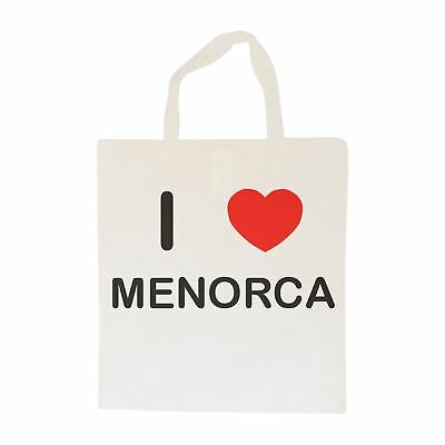 I Love Menorca - Cotton Bag | Size choice Tote, Shopper or Sling