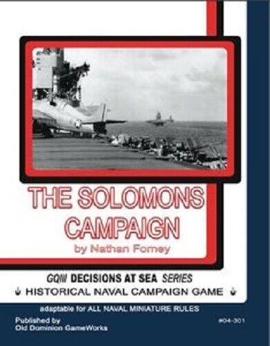 GENERAL QUARTERS SOLOMONS CAMPAIGN - WAR GAMES RULES - NEW