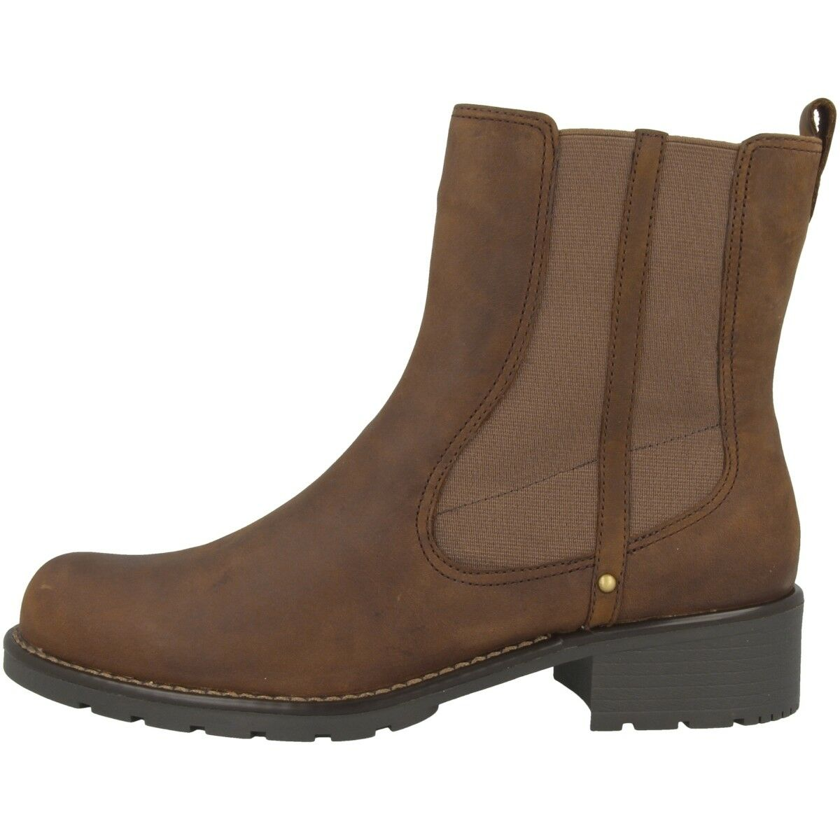 Clarks Orinoco Club brown Schuhe Damen Leder Siefel Women Boots brown Club Pearl 20340917 ec543e