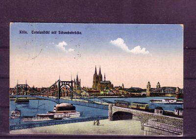 schwebebrücke- Schrecklicher Wert europa:11335 Gelaufene Ansichtskarte Köln