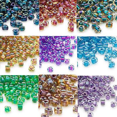 100 Miyuki Glass Triangle Seed Beads 5//0 Inside Color Two Tone Lined Beads