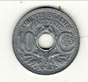 Rare Fdc Cote 75 Euro 10 Centimes Zinc 1941 état Tres Difficile Trouvé Retarder La SéNilité