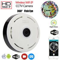 360 Degree Wireless 960p Hd Fisheye Ip Camera Wifi Panoramic Baby Monitor Ir-cut